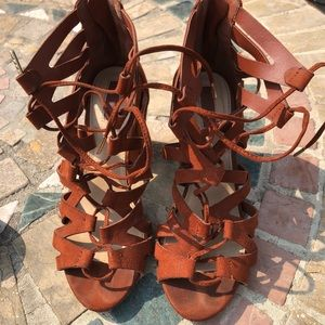 Forever 21 Copper Brown Heels size 6